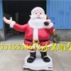 松龄长岁月的玻璃钢圣诞老人送礼物雕塑能引起孩子极大兴趣