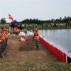 组合型直板防洪板-室外抗老化-轻便易储存红色挡水板